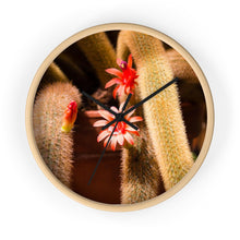Load image into Gallery viewer, Cactus Flower Photo Wall Clock