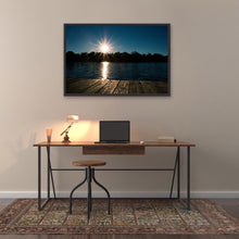 Load image into Gallery viewer, Sunset Lake Dock View - Framed Print