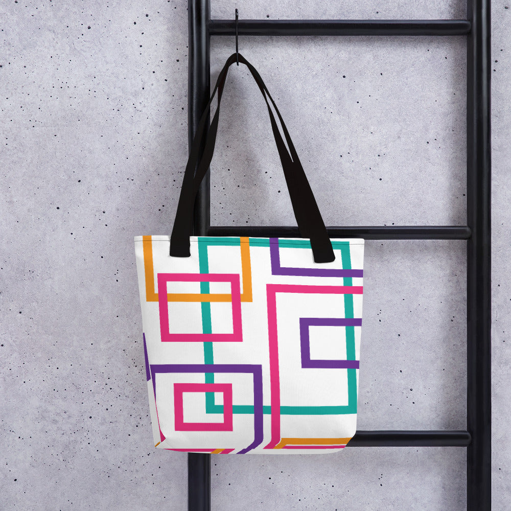Colorful Squares and Rectangles - Tote Bag