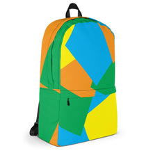 Load image into Gallery viewer, Shapes Overlay Pattern Backpack - Orange, Blue, Yellow