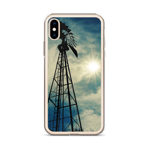 Windmill Sunset - iPhone Case