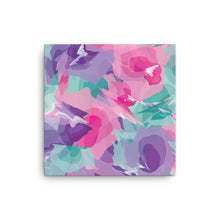 Load image into Gallery viewer, Abstract Colorful Watercolor Canvas Print - Purple, Pink, Teal