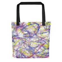 Load image into Gallery viewer, Thin Brush Strokes Tote Bag - Pink, Blue, Neon Green