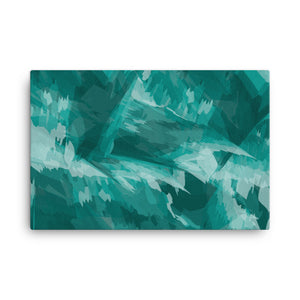 Abstract Contemporary Canvas Print - Teal