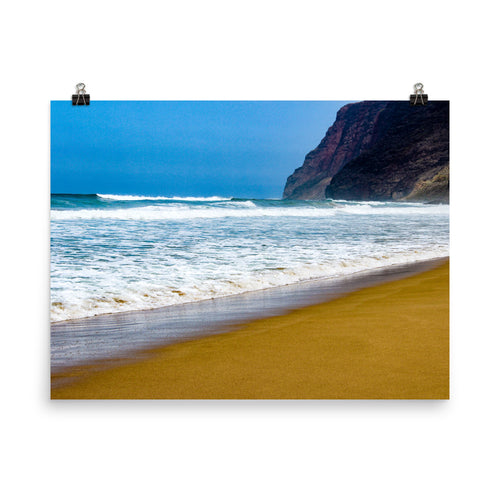Hawaii Sandy Beach Ocean Waves - Unframed Print
