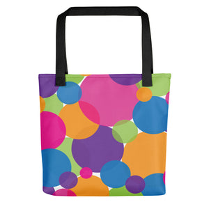Rainbow Circles Tote Bag
