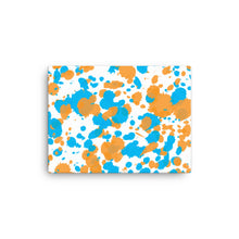 Load image into Gallery viewer, Paint Splatter Canvas - Orange & Blue