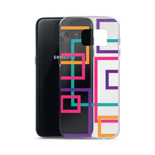 Load image into Gallery viewer, Geometric Pattern - Samsung Case - Purple Pink Orange Teal