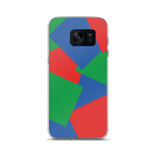 Color Shapes Overlay Pattern - Samsung Case - Blue Green Red