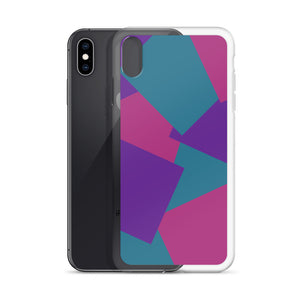 Color Shapes Overlay Pattern - iPhone Case - Purle, Teal, Pink