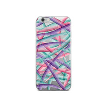 Load image into Gallery viewer, Colorful Brush Strokes Pattern iPhone Case - Purple Pink Teal