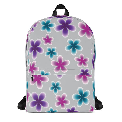 Multi Color Flowers Backpack - Purple, Pink, Blue