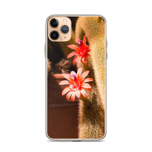 Cactus Pink Flower iPhone Case