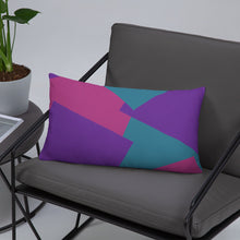 Load image into Gallery viewer, Shapes Overlay Pillow - Purple, Pink, Teal