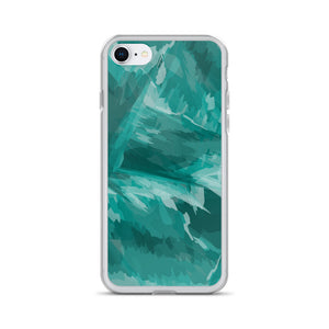 Painted Pattern iPhone Case - Teal