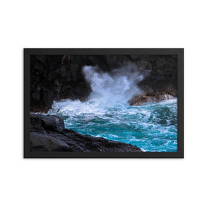 Hawaii Waves Ocean Spray - Framed Print