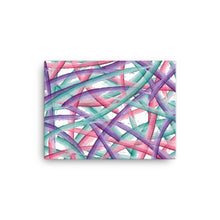 Load image into Gallery viewer, Abstract Multi Color Brush Strokes Canvas Print - Purple Pink Teal