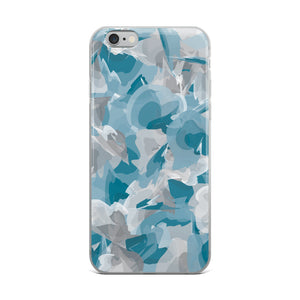 Colorful Watercolor Pattern iPhone Case - Blue Gray