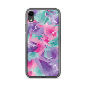 Colorful Watercolor Pattern iPhone Case - Purple Pink Teal