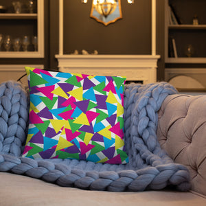 Colorful Abstract Triangles Throw Pillow - Bright Colors