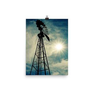 Windmill Sunset - Unframed Print