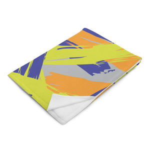 Abstract Colorful Brush Strokes Throw Blanket