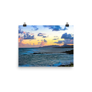 Sunset Ocean - Unframed Print