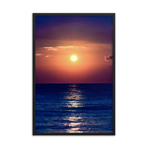 Purple Orange Sunset - Framed Print