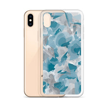 Load image into Gallery viewer, Colorful Watercolor Pattern iPhone Case - Blue Gray
