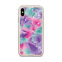 Load image into Gallery viewer, Colorful Watercolor Pattern iPhone Case - Purple Pink Teal