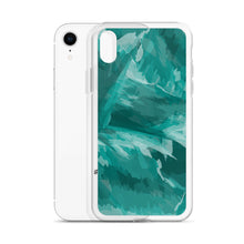 Load image into Gallery viewer, Painted Pattern iPhone Case - Teal