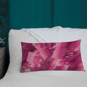 Abstract Painted Pattern Premium Pillow - Pink