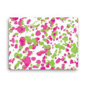 Paint Splatter Canvas - Pink & Green