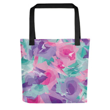 Load image into Gallery viewer, Watercolor Tote Bag - Purple, Pink, Teal
