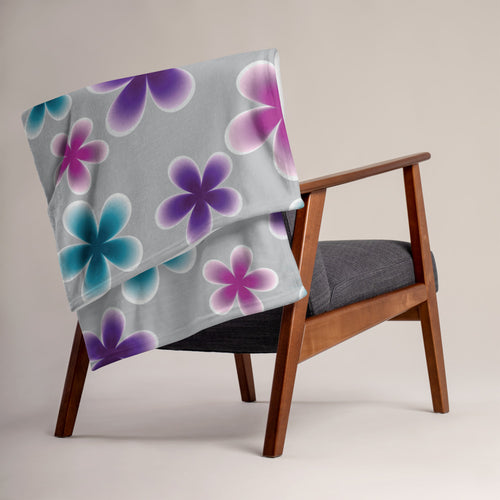 Colorful Flowers Throw Blanket