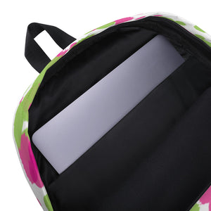 Paint Splatter Backpack - Pink & Green