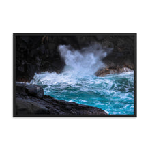 Load image into Gallery viewer, Hawaii Waves Ocean Spray - Framed Print