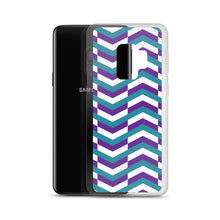Load image into Gallery viewer, Chevron Pattern - Samsung Case - Purple Teal White