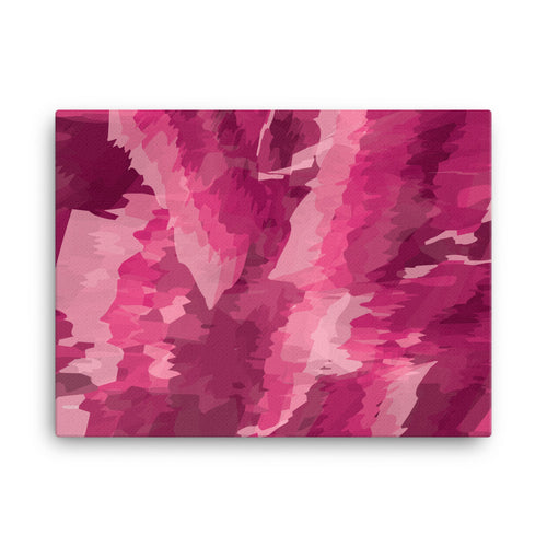 Abstract Contemporary Canvas Print - Pink