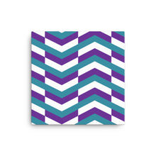 Load image into Gallery viewer, Chevron Pattern Canvas - Teal, Purple, White