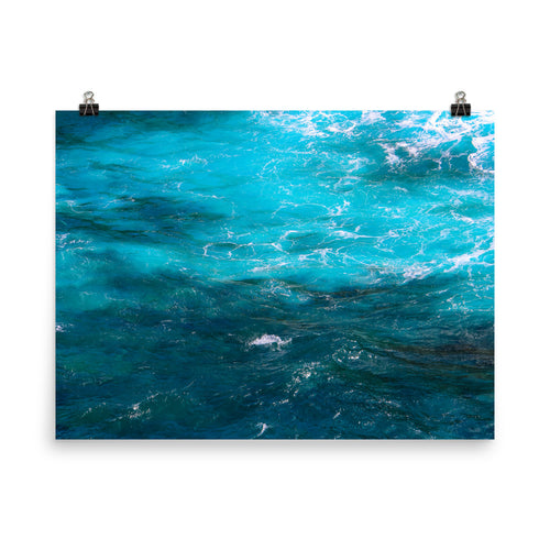 Blue Ocean Water Photo - Unframed Print