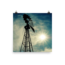 Load image into Gallery viewer, Windmill Sunset - Unframed Print