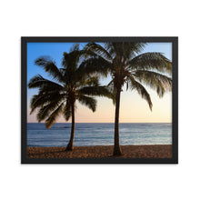 Load image into Gallery viewer, Palm Tree Sunset Hawaii - Framed Print