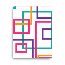 Load image into Gallery viewer, Multi Color Geometric Pattern - Squares and Rectangles - Canvas Print