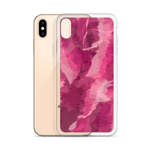 Painted Pattern iPhone Case - Pink