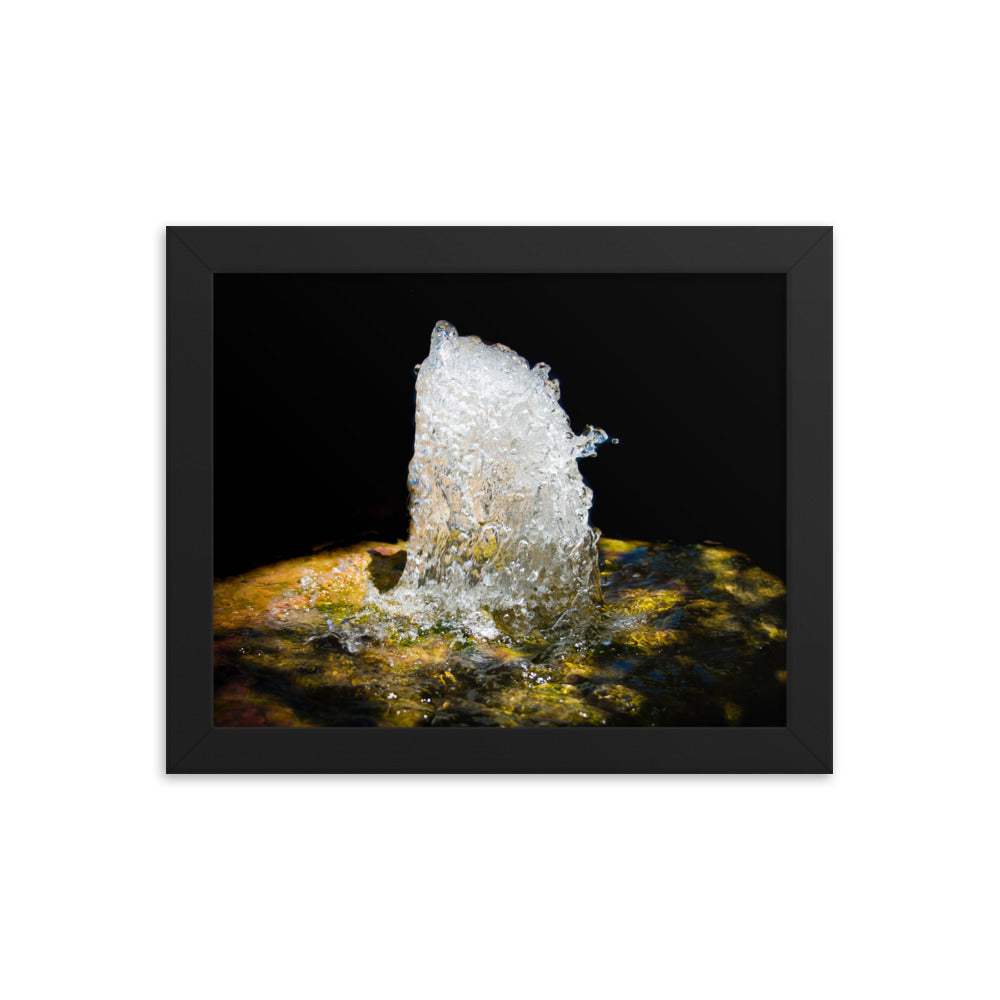 Water Fountain Frozen Motion - Framed Print