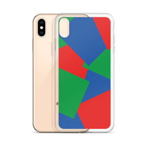 Color Shapes Overlay Pattern - iPhone Case - Blue Green Red