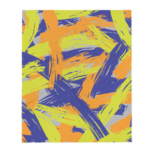 Load image into Gallery viewer, Abstract Colorful Brush Strokes Throw Blanket