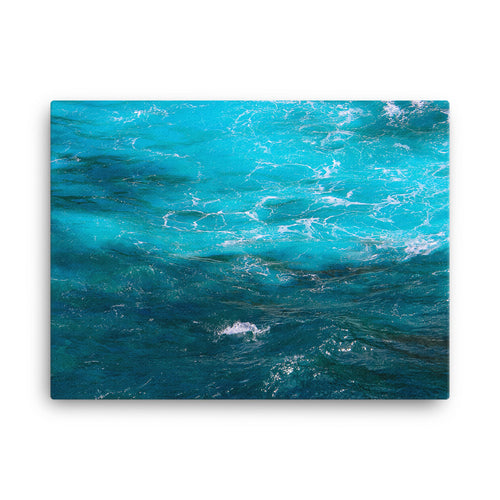 Blue Ocean Water - Canvas Print