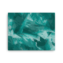 Load image into Gallery viewer, Abstract Contemporary Canvas Print - Teal